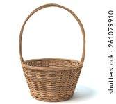 3d illustration of a basket | Shutterstock . vector #261079910