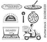 pizza delivery | Shutterstock .eps vector #261081020