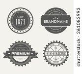 retro vintage insignias or... | Shutterstock .eps vector #261083993