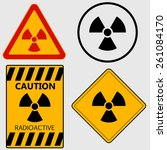 Radioactivity Sign  Caution...