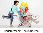 spending great time together.... | Shutterstock . vector #261086396