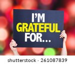 i'm grateful for... card with... | Shutterstock . vector #261087839