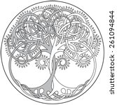 vector tree of life emblem | Shutterstock .eps vector #261094844