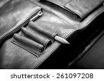 a man's business briefcase bag  ...   Shutterstock . vector #261097208