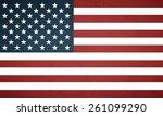 grunge american flag background ... | Shutterstock .eps vector #261099290