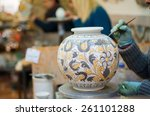 view of a ceramic vase from... | Shutterstock . vector #261101288