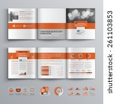 classic brochure template...   Shutterstock .eps vector #261103853
