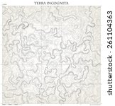 topographic map. monochrome... | Shutterstock .eps vector #261104363