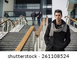 Trendy Handsome Young Man In...