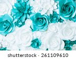 background of turquoise and... | Shutterstock . vector #261109610