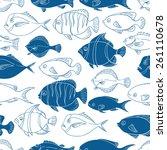 blue seamless vector pattern... | Shutterstock .eps vector #261110678