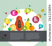 healthy lifestyle infographic   ... | Shutterstock .eps vector #261123854