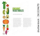 fresh vegetables vector concept.... | Shutterstock .eps vector #261124670