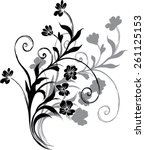 wallpaper black background... | Shutterstock .eps vector #261125153
