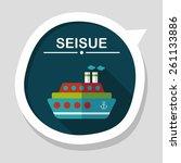 transportation ferry flat icon... | Shutterstock .eps vector #261133886