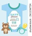 baby shower invitation  | Shutterstock .eps vector #261136724