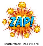 word 'zap' with cloud explosion ... | Shutterstock .eps vector #261141578