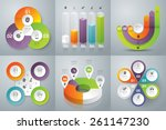 infographic design template can ... | Shutterstock .eps vector #261147230