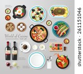 infographic food business flat... | Shutterstock .eps vector #261151046