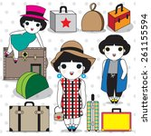 a girl can never have too many...   Shutterstock .eps vector #261155594