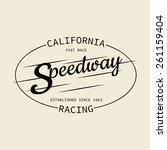 stamp of speedway racing for... | Shutterstock .eps vector #261159404