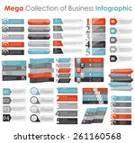 collection of infographic... | Shutterstock .eps vector #261160568