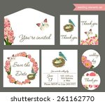 wedding invitation set | Shutterstock .eps vector #261162770