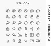 36 web icon on line icon concept