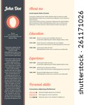 curriculum vitae with special...   Shutterstock .eps vector #261171026