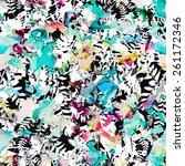 grunge floral seamless pattern   Shutterstock . vector #261172346