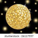 golden disco ball | Shutterstock . vector #26117557