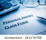 personal injury claim form | Shutterstock . vector #261176708