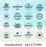 summer holidays design elements ... | Shutterstock .eps vector #261177290