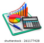 business finance  tax ... | Shutterstock . vector #261177428