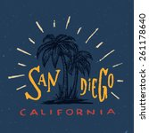 san diego t shirt graphic.... | Shutterstock .eps vector #261178640