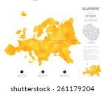 geometric map elements... | Shutterstock .eps vector #261179204