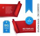 set of red ribbons   blue...   Shutterstock .eps vector #261180053