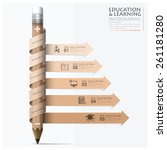 education and learning step... | Shutterstock .eps vector #261181280