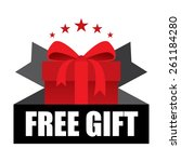 free gift sign and tag   red | Shutterstock . vector #261184280