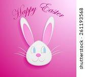 happy easter   easter bunny... | Shutterstock .eps vector #261193568