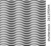 design element.  wavy seamless... | Shutterstock .eps vector #261195044