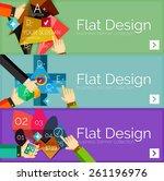 flat design vector infographic... | Shutterstock .eps vector #261196976