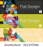 flat design vector infographic... | Shutterstock .eps vector #261197066