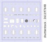 set of 2d editable flat vector... | Shutterstock .eps vector #261197648