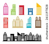 building symbol icon design .... | Shutterstock .eps vector #261197828