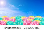 easter eggs and elegant clear... | Shutterstock . vector #261200483