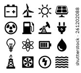 energy icons set | Shutterstock .eps vector #261202088