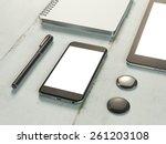 template business for branding. ...   Shutterstock . vector #261203108