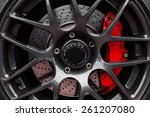 car wheel   sport car | Shutterstock . vector #261207080