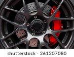 car wheel   sport car | Shutterstock . vector #261207080